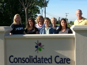 L-R: L to R: Jennie Dempster, Nancy Pennington, Jan Rhoades, Chelsea Baldwin, Karen Oberlies, Talia McMurray, Doug Steiner